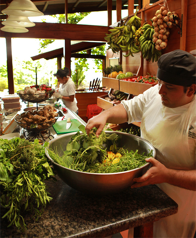 Fresh ingredients Costa Rica cuisine