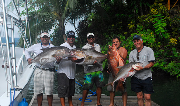 Fishing Costa Rica for snapper and amber jack