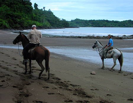 Horseback riding Costa Rica beach