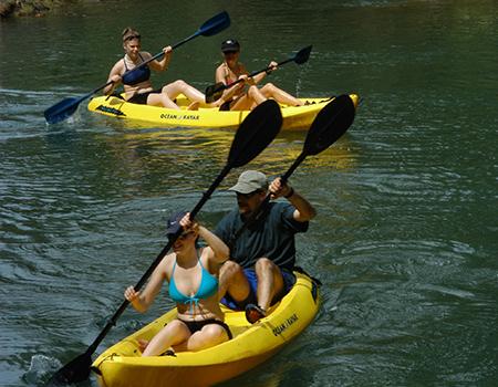 Family kayak adventure Costa Rica