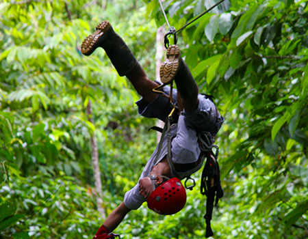 Fun zipline Costa Rica